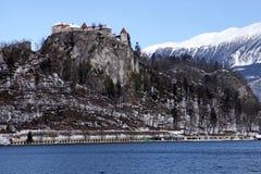 Lago sanguinato con il castello sanguinato, Slovenia Fotografie Stock Libere da Diritti