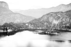 Lago sanguinato meraviglioso Fotografia Stock