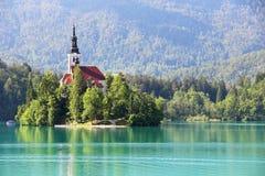 Lago sanguinato, Slovenia Immagini Stock