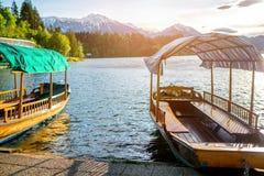 Lago sanguinato in Slovenia Fotografie Stock