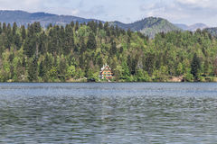 Lago sanguinato in Slovenia, primavera 2015 Immagine Stock