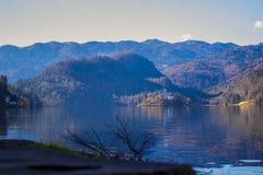Lago sanguinato a Transferrina, Slovenia fotografia stock