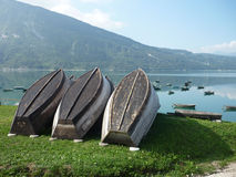 Lago santa croce - belluno Stock Photos