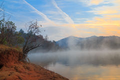 Lago Santeetlah sunrise Fotografie Stock