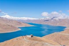 Lago santo del Tibet Fotografie Stock Libere da Diritti