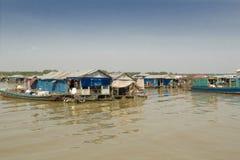 Lago sap de Camboya Tonle. Foto de archivo libre de regalías