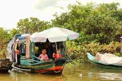 Lago sap de Tonle, Camboya Imágenes de archivo libres de regalías
