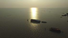 Lago sap de Tonle (Camboya) almacen de video