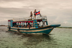 Lago sap di Tonle Fotografia Stock