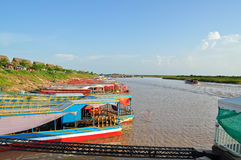Lago sap di Tonle in Cambogia Immagini Stock Libere da Diritti