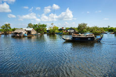 Lago sap di Tonle, Cambogia. fotografia stock libera da diritti