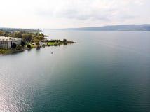 Lago Sapanca em Sakarya/Turquia/Pedalo fotografia de stock