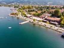 Lago Sapanca en Sakarya/Turquía/Pedalo imagen de archivo