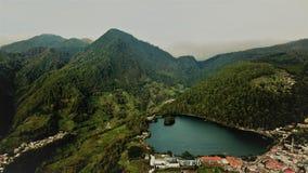 Lago Sarangan Java Indonesia del este imagen de archivo