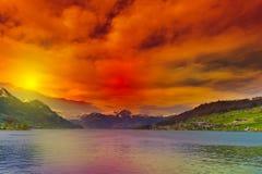 Lago Sarner Imagens de Stock