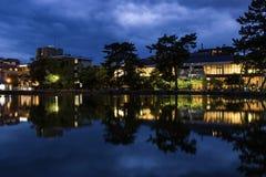Lago Sarusawa, Nara Park, Japão foto de stock royalty free