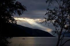 Lago in Scandinavia Fotografie Stock Libere da Diritti
