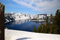 Lago Scenary crater Fotografia Stock