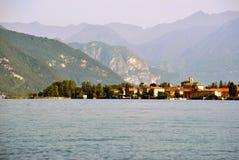 Lago scenico Como Abbadia Lariana Fotografie Stock Libere da Diritti