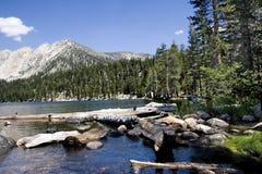 lago scenico della montagna, vasca da bagno dei diavoli Fotografia Stock