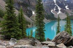 Lago scenico moraine fotografie stock