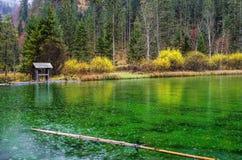 Lago Schiederweiher Fotografie Stock