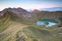 Lago Schrecksee in alpi tedesche Fotografia Stock Libera da Diritti