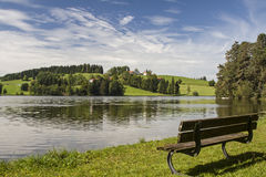Lago Schwalten in Allgaeu Fotografia Stock Libera da Diritti