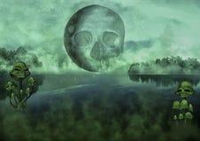 Lago scuro terrificante di fantasia Fotografia Stock Libera da Diritti