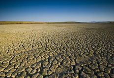 Lago seco fotografia de stock
