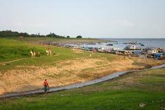 Lago seco imagen de archivo libre de regalías