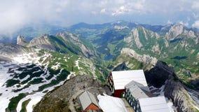 Lago Seealp nel massiccio di Alpstock Fotografia Stock Libera da Diritti