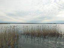 Lago Seliger al tramonto Bello paesaggio immagini stock libere da diritti