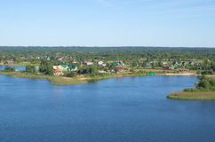 Lago Seliger e as ilhas imagem de stock