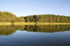 Lago Seliger no por do sol imagens de stock