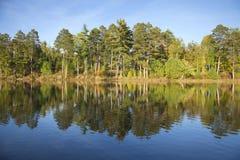 Lago septentrional típico minnesota en un aftern soleado de finales de septiembre Fotos de archivo libres de regalías