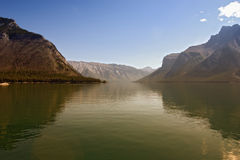 Lago in sera Fotografie Stock