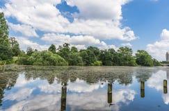 Lago serpentino en Hyde Park, Londres Imagen de archivo