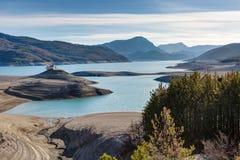 Lago Serre-Poncon - Alpes - Francia Immagini Stock Libere da Diritti