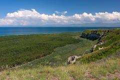 Lago Sevan - pérola de Armênia fotografia de stock