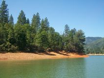 Lago Shasta Califórnia Foto de Stock Royalty Free