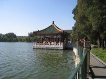 lago Shi-sa-hai a Pechino centrale Immagini Stock