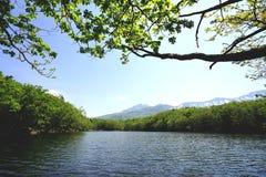 Lago Shiretoko Imagenes de archivo