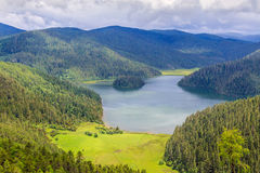Lago Shudu, no parque nacional de Potatso Foto de Stock Royalty Free