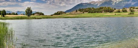 Lago Siguret vicino a Embrun - Alpes - la Francia Fotografia Stock