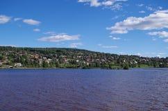 Lago siljan en un día soleado imagen de archivo libre de regalías