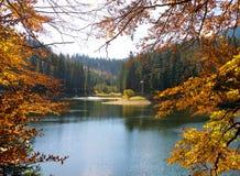Lago Sinevir nelle montagne carpatiche Fotografie Stock Libere da Diritti