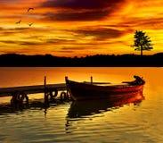 Lago sinistro Fotografie Stock