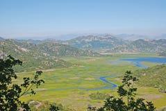 Lago Skadar Immagini Stock