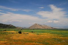 Lago Skadar Foto de archivo libre de regalías